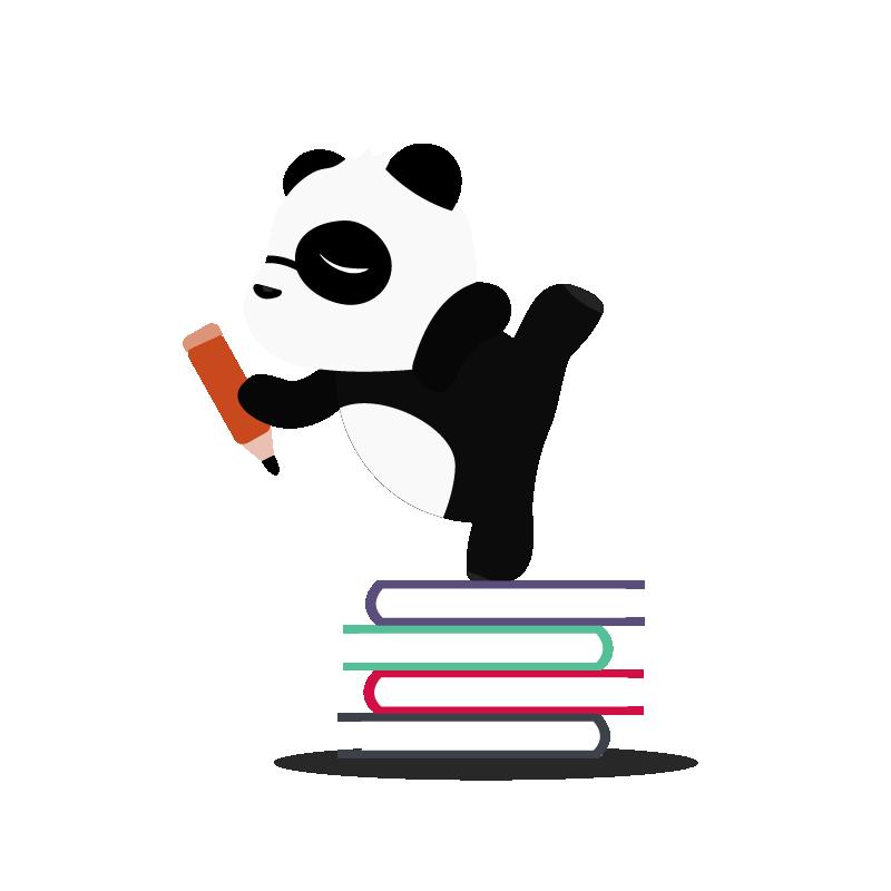 panda writing 3