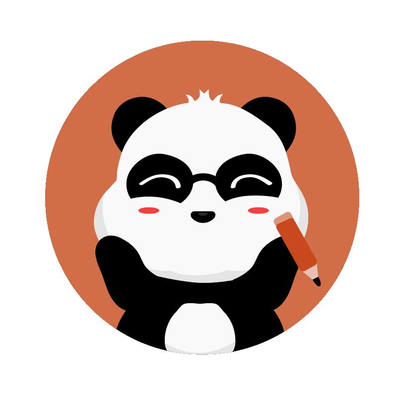 panda writing 2