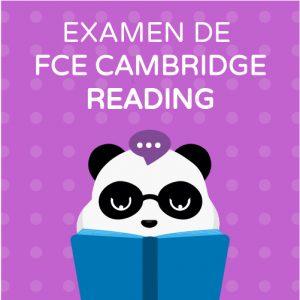 Examen de Cambridge FCE Reading